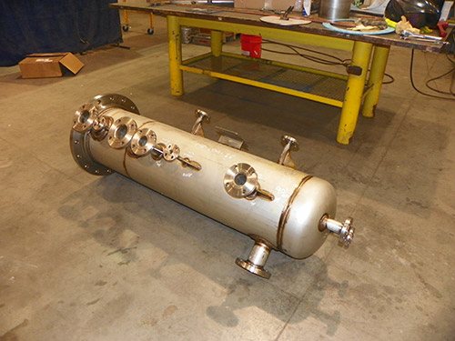 Fabrication of a stainless steel condenser gary in